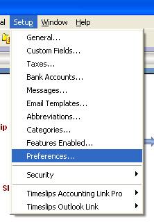 20081030 SetUP Preferences